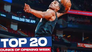 NBA21-22赛季首周20佳扣篮!