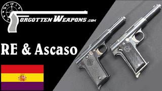 """【被遗忘的武器/双语】西班牙""""二共型""""和""""阿斯卡索型""""仿阿斯特拉400手枪"""