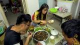 重庆火锅料做5斤香辣螺蛳,老爸直呼受不了,大sao一口一个,过瘾