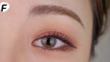 适合秋冬季节的玫瑰色妆容#眼妆+唇妆